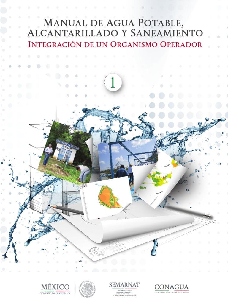 Manual de diseño de agua potable y alcantarillado sanitario.