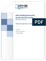 AWS Quality Manual Sample No Field Installation