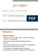 Introduction to History of Architecture_Lecture 01