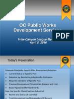 OC Public Works Development Service Meeting April 5 2016