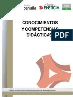 Conocimientos y Competencias Didacticas. Docentes