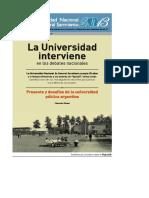 Rinesi - La Universidad Interviene en Los Debates Nacionales