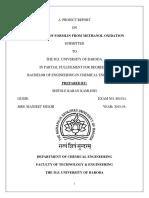 Formalin ( 37 % formaldehyde)  production through methanol oxidation