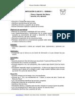 Planificacion Aula MLenguaje 1BASICO y 2BASICO Semana 1 2016