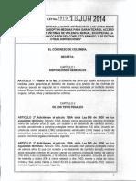 Ley 1719 Del 18 de Junio de 2014