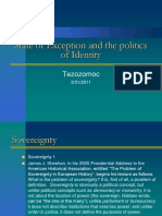 State of Exception and the Politics of Identity