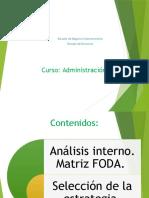 Administración-Analisis FODA
