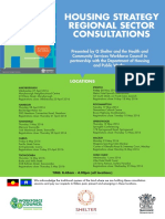 Housing Strategy Regional Sector Consultations Flyer and Flyer