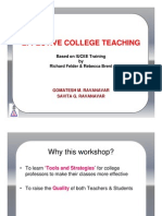 Effective College Teaching [Compatibility Mode] GMR