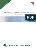 RELATÓRIO DE POLÍTICA MONETÁRIA