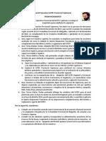 Comité Ejecutivo SUTEC Provincial Cajamarca