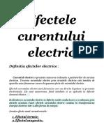Efectele Curentului Electric