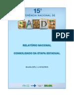 Relatório Nacional Consolidado Da Etapa Estadual