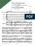 Vocal Score Schubert Song of Miriam