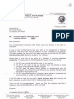 09-02-02 California Department of Financial Institutions Letter to Dr Zernik Re Complaint on USC Credit Union No 23355-s