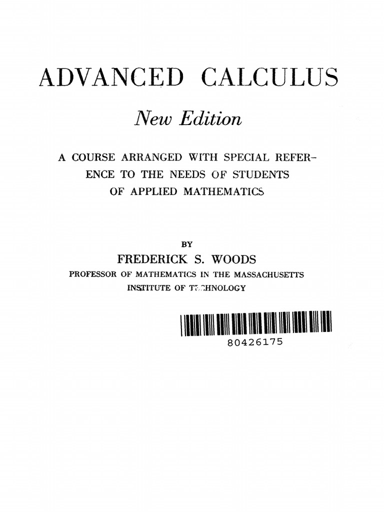 Advanced Calculus By Woods Pdf