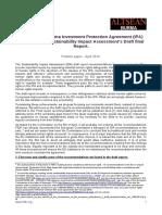 EU-Myanmar/Burma Investment Protection Agreement (IPA)