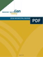Laurentian Valley Budget 2016