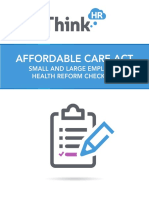 Affordable Care Act Small and Large Employer Checklist
