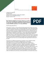 10-05-03 Dr Zernik's letter to Presiding Judge McCoy - LA Superior Court - re