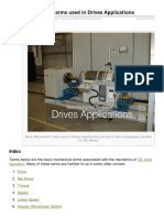 Basic Mechanical Terms Used in Drives Applications