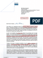 EU Business Lobby Letter Demanding New EU Wide Investment Protection Instrument