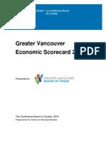 Greater Vancouver Economic Scorecard 2016