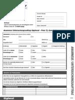 modulo per le analisi delle urine - ricerca del glifosato