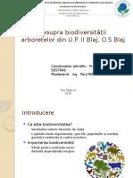 Studiu Asupra Biodiversitatii Arboretului Din UP II Blaj, OS Blaj