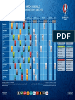 Spielplan Der UEFA EURO 2016 UEFA Fußball Fussball Fuba Europameisterschaft Frankreich