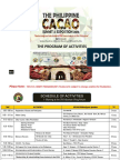 Philippine Cacao Summit - Program as of May 18 2016