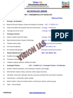 Ias Mains Sociology Reference Book Syllabus Vision Ias