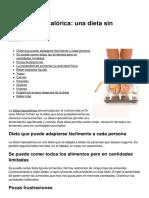 La Dieta Hipocalorica Una Dieta Sin Frustraciones 3850 Mz51c4