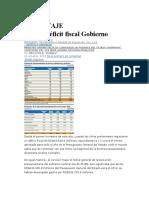 Causas Déficit Fiscal Gobierno