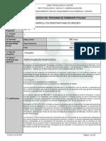 1. Programa de Formacion Esp Inv de Mercados