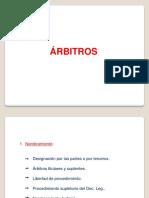 ARBITRAJE - Arbitros