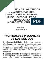 Biomecánica de Los Tejidos y Estructuras Del Sistema