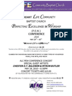 ALC PEW Conference/Concert 2010 Flyer