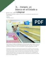 Historia DL. - Inespre, Un Elefante Blanco en El Estado a Punto de Colapsar