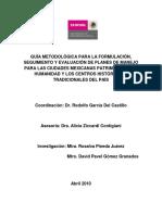 Guía Metodológica Para La Formulación, Seguimiento y Evaluación de Planes de Manejo
