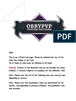 ObbyPvP Official Rules