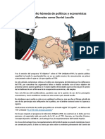 El TTIP El Sueño Húmedo de Políticos y Economistas Neoliberales Como Daniel Lacalle