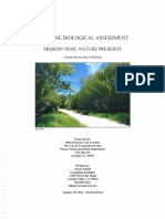 Baseline Biological Assessment- Mission Trail Nature Preserve 05-11-16