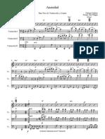 Ansiedad- Trio Violoncello Score - Parts