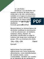 grupos funcionales(alcoholes)