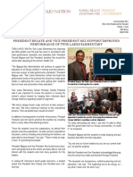Press Release President Begaye and Vice President Nez Support Improved Performance of Twin Lakes Elementary