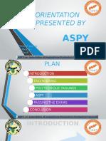 Orientation ASPY