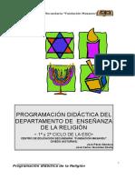 Programación Didáctica de Enseñanza de La Religión. 1º ESO