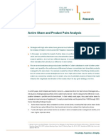 Active Share and Product Pairs Analysis