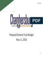 CASD's 2016-2017 Proposed Budget